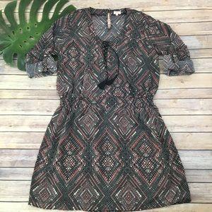 Pixley Stitch Fix tabbed sleeve geometric dress